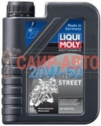Масло моторное минеральное для мотоциклов четырехтактное Liqui Moly Motorbike 4T 20W-50 Street 1л