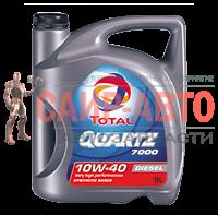 Масло моторное полусинтетическое 5л - QUARTZ DIESEL 7000 10W40 A3/B4, SL/CF, PSA B71 2294&B71 2300,