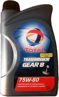 Масло трансмиссионное 2л - TOTAL TRANS GEAR 8 75W80/2