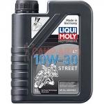 Масло моторное синт. для мотоциклов четырехтактное Liqui Moly Motorbike 4T 10W-30 Street 1л