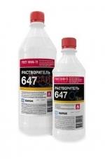 Растворитель 647, для разбавления нитроэмалей, нитролаков и нитрогрунтовок, 0.5 л